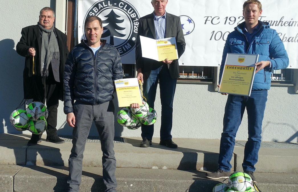Fußballverband ehrt Jubilar FC 1920 Tannheim e.V.